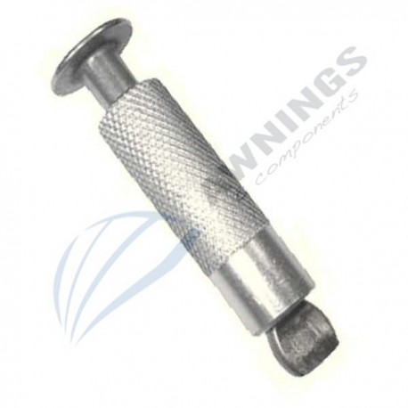 Screw for awnings swimming pools